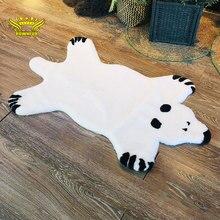 ROWNFUR Искусственный меховой коврик ковёр шубы белая миша для дома дестской комнаты спальня Ребёнка мягкий пушистый для кошк