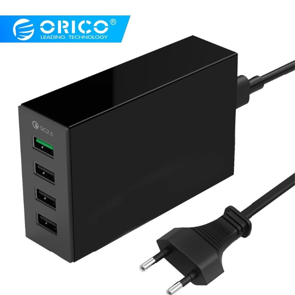 Cep telefonları ve Telekomünikasyon Ürünleri'ten Cep Telefonu Şarj Cihazları'de ORICO 4/5 Port QC2.0 hızlı şarj 2.0 akıllı masaüstü cep telefonu USB şarj cihazı evrensel hızlı şarj cihazı Samsung iPhone x için 8 artı title=