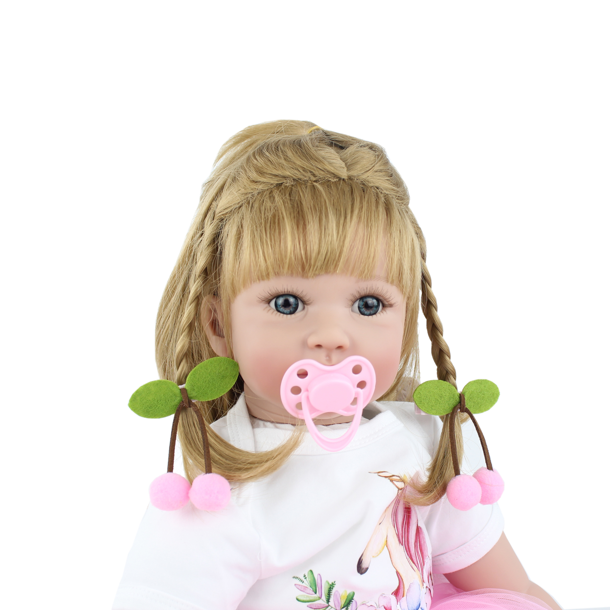 Reborn Babies Doll Toys For Girl Pink Dress Blonde Princess
