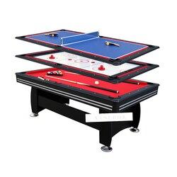 3 in 1 Billardtisch Set 7 Füße Tischtennis Eis Hockey Moderne Stil Starke Rahmen bein Sport Spiel Spielen ausrüstung SUM-8446A-3