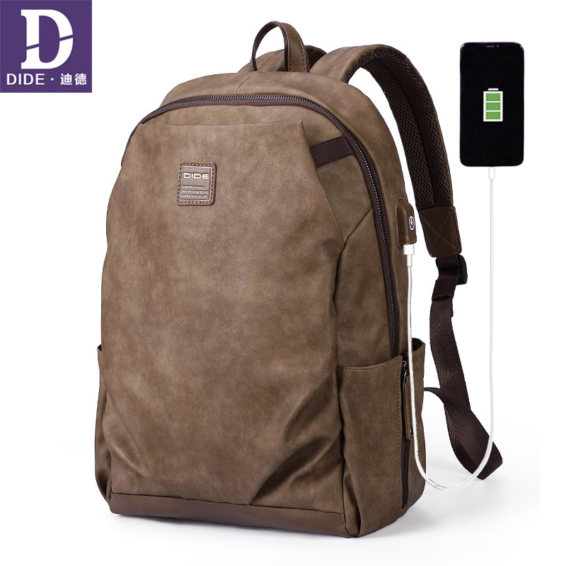 DIDE USB Charge School Bags Men's Waterproof Laptop Backpacks Multi-layer Space Travel Male Bag Anti-thief Mochila