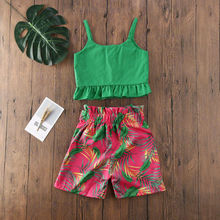 Imcute 2020 Summer Kids Baby Girl Cothes Floral Outfits Ruff