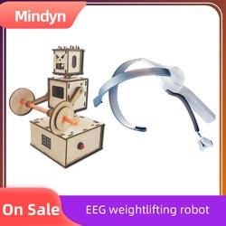 Mindyn DIY handcraft brainwave intelligent voice Brainwave headset EEG feedback weightlifting robot