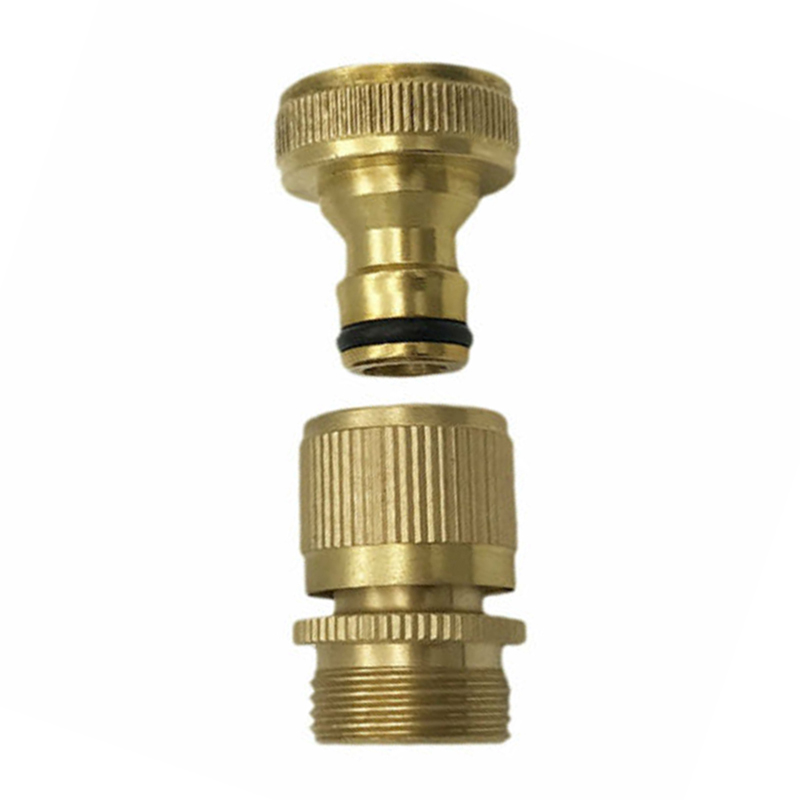 Garden Water Hose Quick Connector 3//4 Inch GHT Brass Easy Connect Fitting US