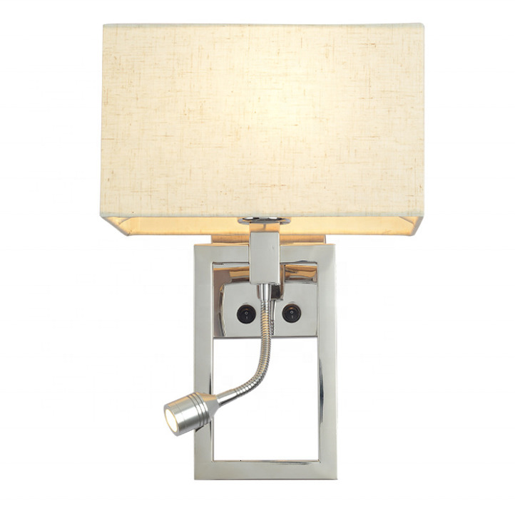 Modern Newest Stainless Steel Hotel Bedside Led Reading Lamp