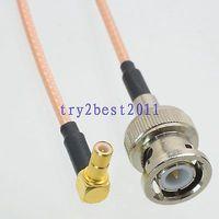 ĐHG/EMS 50 Bộ RG316 BNC cắm pin để SMB cắm pin góc RF Dây Nhảy Pigtail Cable 6 inch-C1
