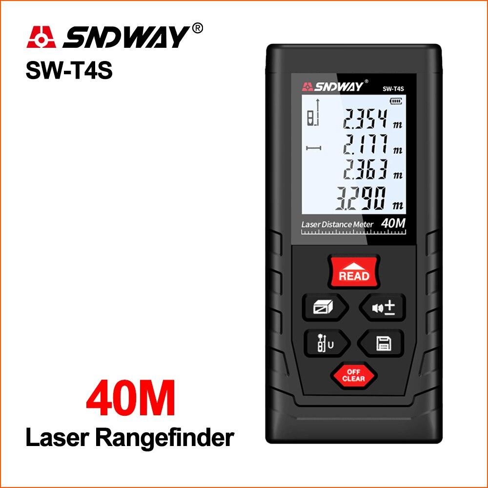 SNDWAY Laser odległościomierz dalmierz Mini cyfrowy miernik laserowy czujnik odległości SW-T4S 40M dalmierze laserowe