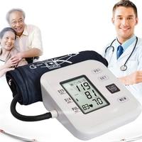 Automatic Voice Arm blood pressure monitor LCD Digital Tonometer Meter Sphygmomanometer Portable Tensiometro Cuff Health Partner