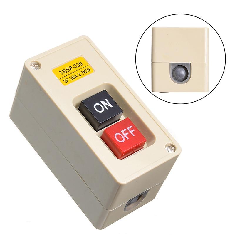 TBSP-330 3 Phase Waterproof 30A Power Push Button Switch Two Key Lock Tend