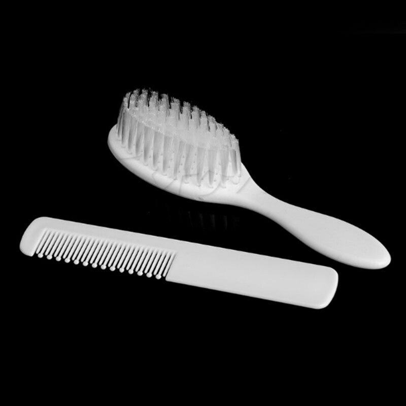 2pcs/Set Baby Hairbrush Newborn Hair Brush Infant Comb Head Massager ABS Baby Care Convenient Hairbrush Won't Scratch Scalp