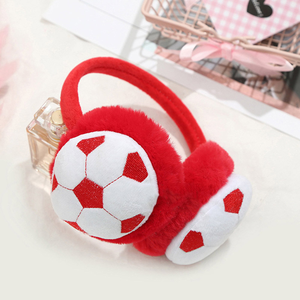 2019 New Children's Football Embroidery Boy Girl   Winter Earmuffs American Captain Warm Headphones For Kids