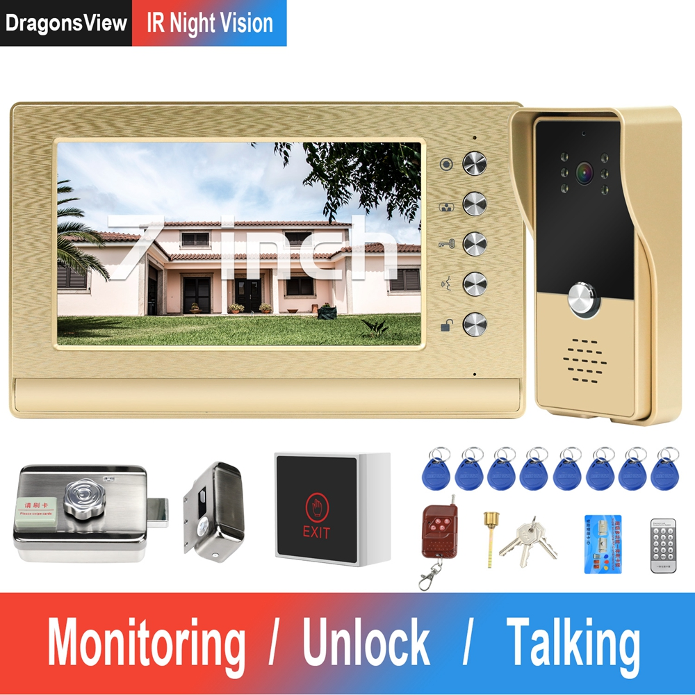 Dragonsview Video-Intercom Lock Access-Control-System Wired Call-Panel Door-Phone Electric-Lock title=