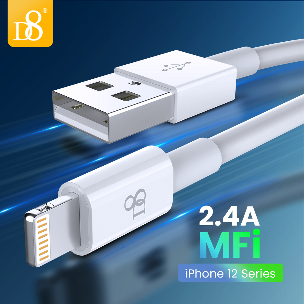 MFi USB Cable for iPhone 12 7 6 ipad Fast Charging Cable iPhone  11Pro Xs Max XR X SE 2 8 7 USB Data Cable Phone Charger Cable