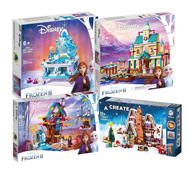 Girl Set Brick Elsa's Jewellery Box Compatible Lepining Frozeningl 2 Friends 41168 41167 41164 Building Blocks Toys for Kids image