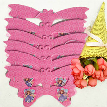 10P/Set Cartoon Paper Mask Sofia Princess Theme Party Decorations Baby Shower Happy Birthday Wedding Event Favors For Kids
