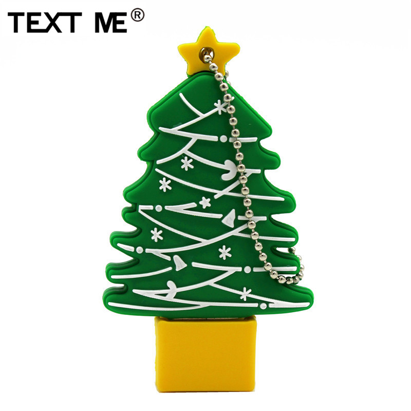 TEXT ME  Christmas Tree Usb2.0 4GB 8GB 16GB 32GB 64GB Pen Drive USB Flash Drive Creative Merry Christmas