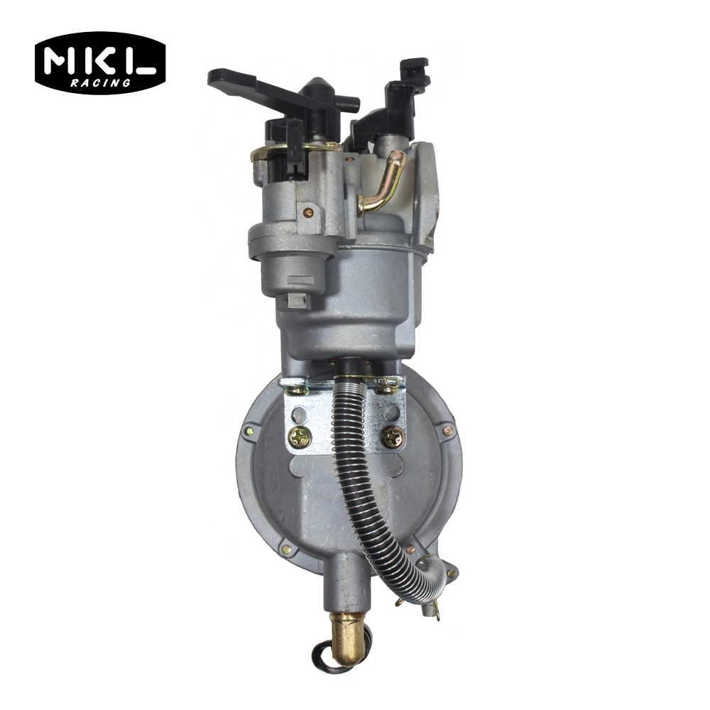 المزدوج الوقود GX160 GX200 168F 170F LPG NG الغاز الطبيعي المضغوط مولد بنزين صغير العالمي المكربن