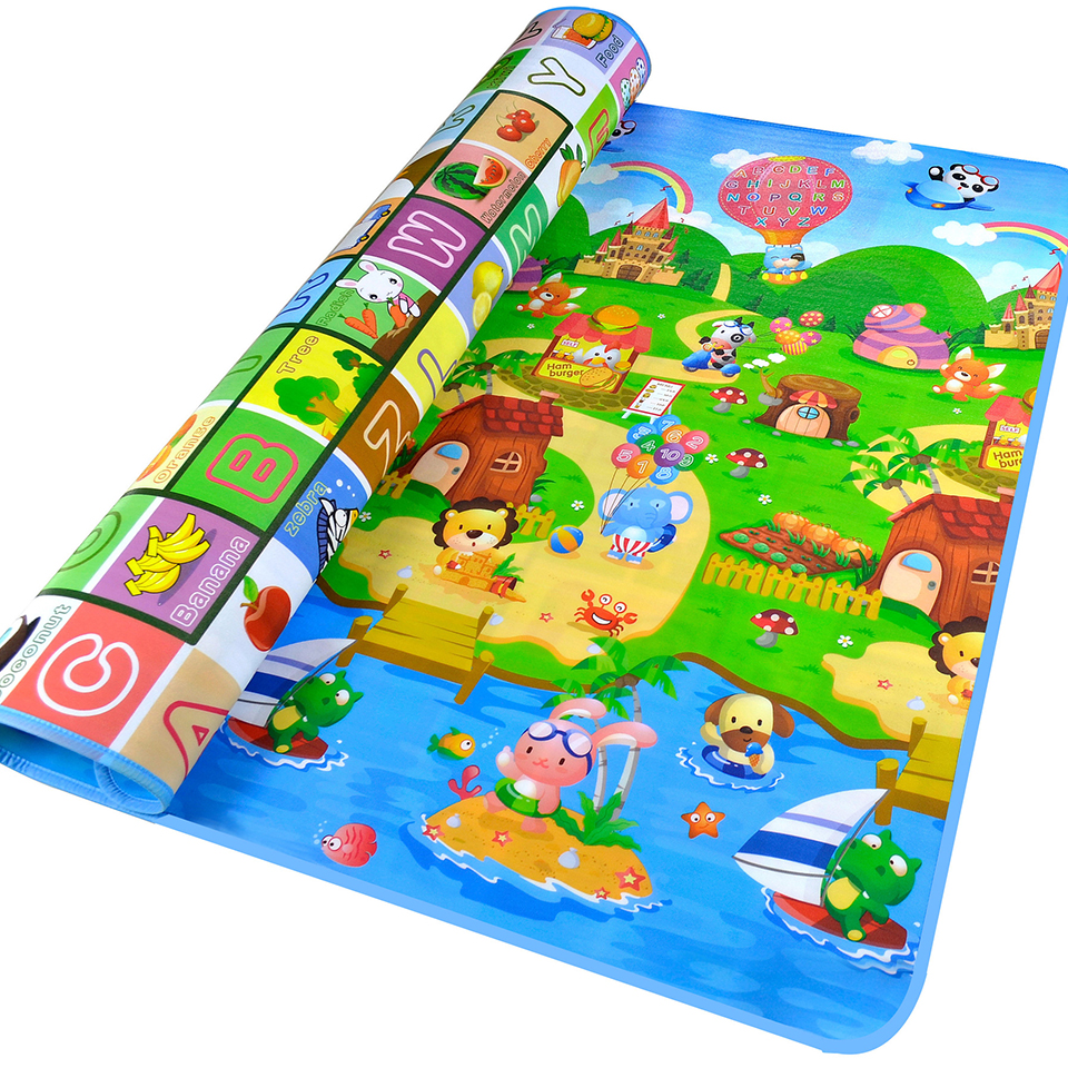 Baby Play Mats for Children Carpet On the Floor Educational Thick Eco-friendly EPE Non-slip Cartoon Zoo Living Room Mat