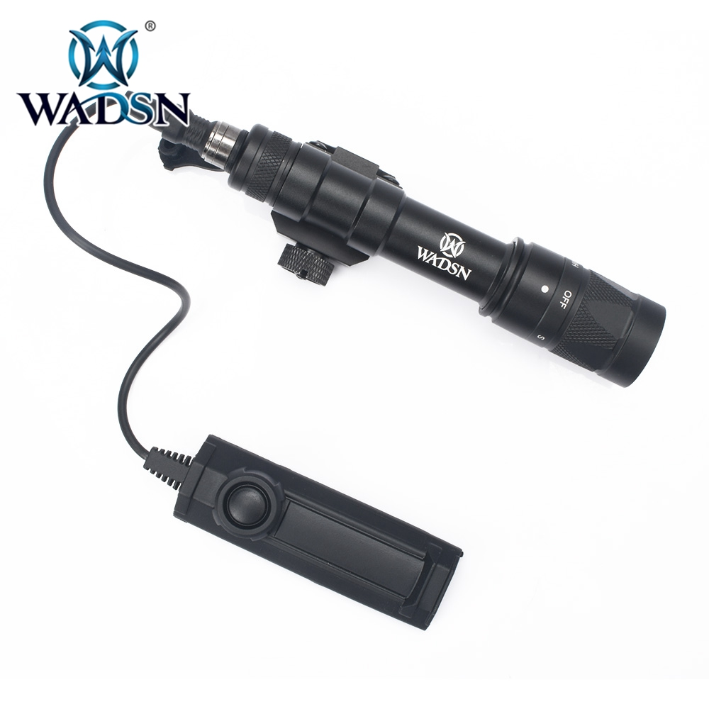 wadsn softair lanterna m600w com dupla funcao interruptor de fita km2 a modulo lampada strobe m600