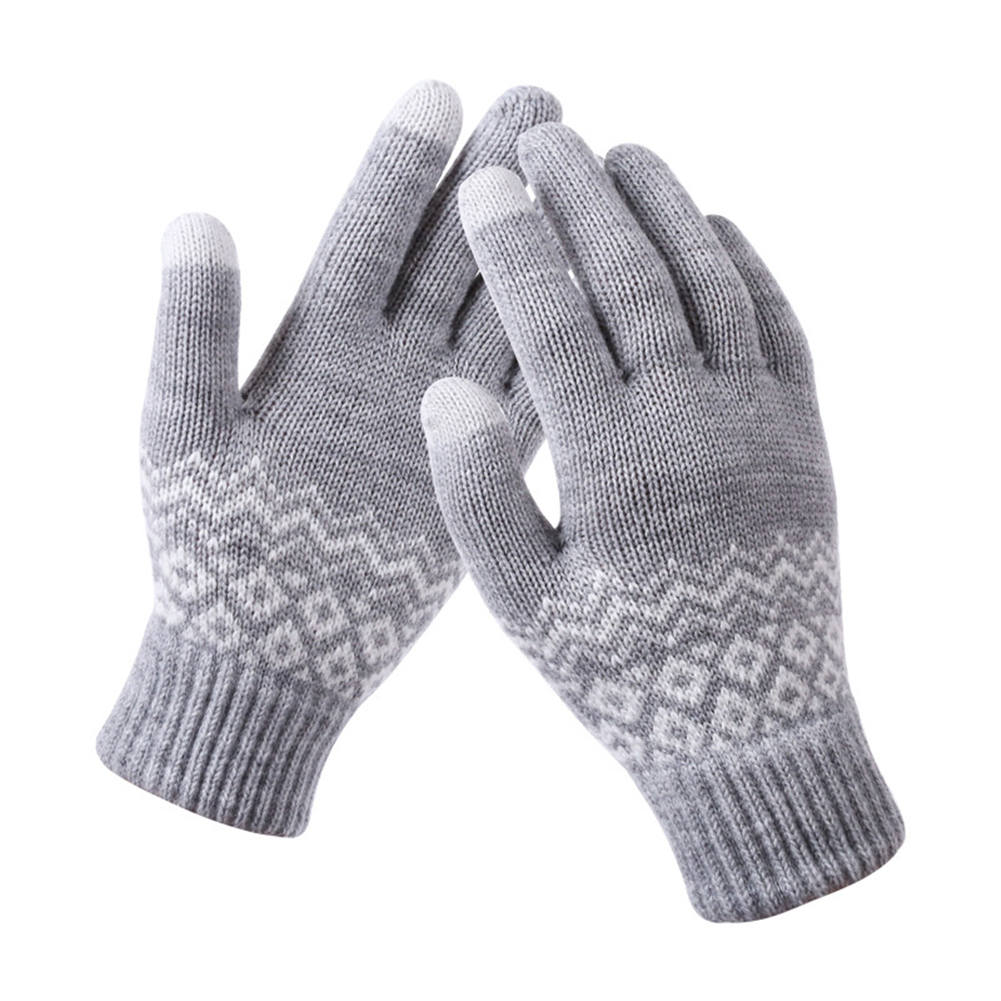 1 Pair Women Girl Knit Mittens Gloves Warm Touching Screen For Winter Smart Phone YS-BUY