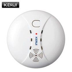 Kerui sem fio detector de fumaça de proteção contra incêndios sensores de alarme portátil para o sistema de alarme de segurança em casa em nossa loja