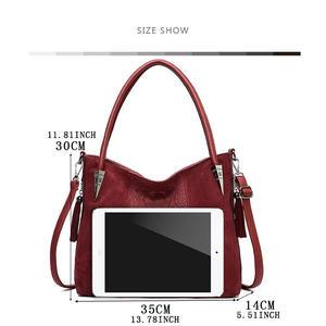 Image 2 - YASICAIDI sacs à Main en cuir PU, fourre tout à poignée supérieure pour femmes, sacoche à bandoulière, sacoche décontracté