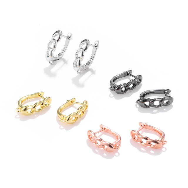 1pair three ring shape earring accessories for jewelry making DIY handmade female earrings materials
