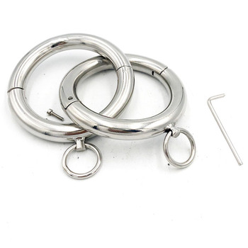 Stainless Steel Ring Ankle Cuffs Metal Anklet Sex Toys For Woan Men Adult Games BDSM Bondage Slave Restraints Fetish Footcuffs