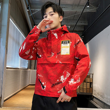 цена на 2020 spring new men's jacket windproof jacket high quality authentic trend men's camouflage hooded windbreaker jacket
