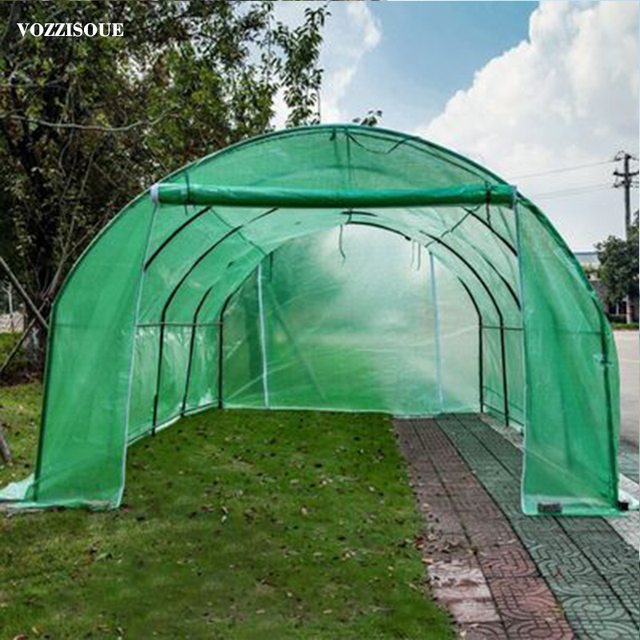 600*300*220cm Large Garden Greenhouse Tall Green House Greenhouse For Plants Shed Storage PE Warm Garden Tier Cover with Stand 1
