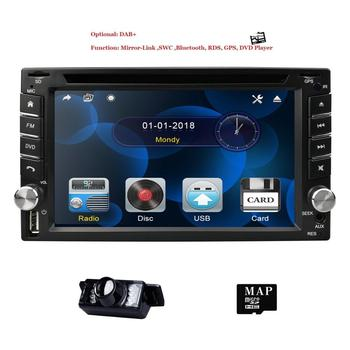 Universal 2Din In Dash Car DVD Player GPS Navi 6.2 Inch Touch screen 800*480 RDS Bluetooth Mirror link Steering wheel control SD