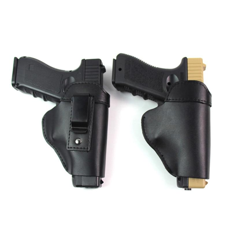 Leather Gun Holster for Glock 17 19 Beterra M9 Colt 1911 Sig Sauer P226 H&K USP Makarov Hunting Airsoft Concealed Pistol Case