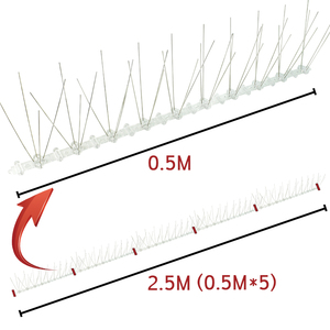 Image 3 - 0.5M/1M/2M/3M/5MสแตนเลสสตีลPigeon Swallow Sparrow Bird spikes Defender Anti Birdหายไปยืดหยุ่นฐานพลาสติกแถบ