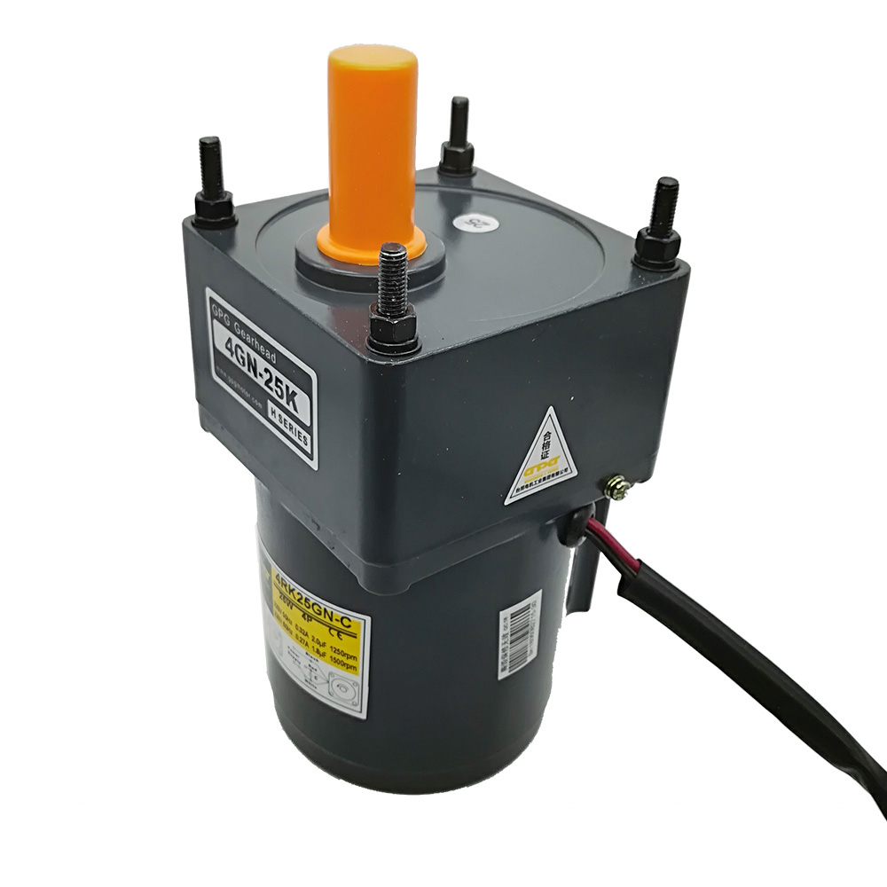 5RK40GN-C Reversible Reducer Motor Ac 220v 50hz 1300rpm Speed Single Phase Output Adjustable Speed With Gear Head