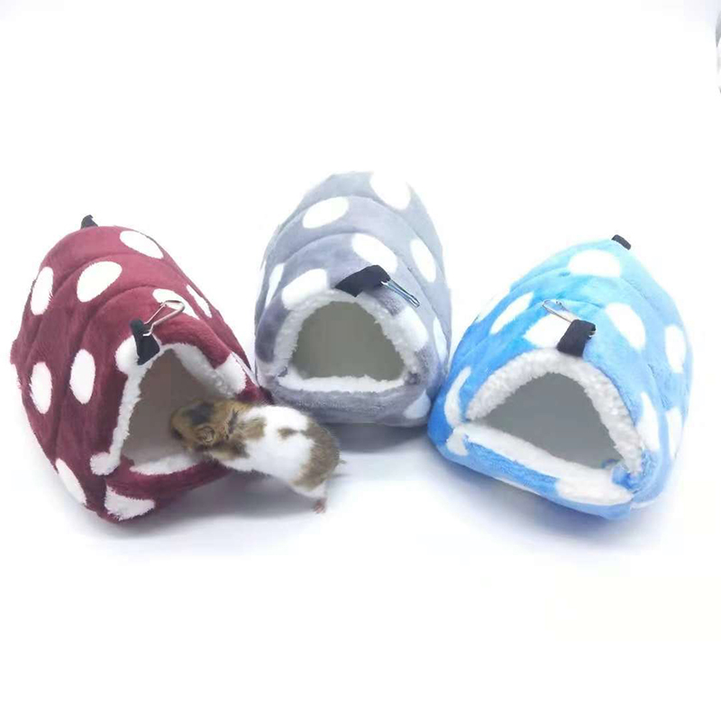 Pet Hamster Hammock Cage Winter Warm House Plush Soft Hanging Bed For Hamster Squirrel Little Mouse Mini Animal Living Nest