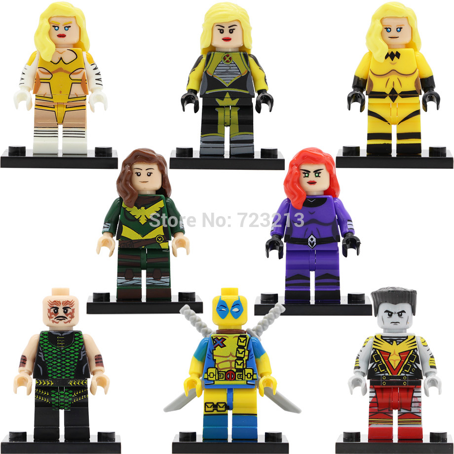 Super Hero Figure Marvel Dazzler Deadpool Hope Summers Crystal White Queen Karnak Medusa Building Blocks Model Brick Toy Legoing