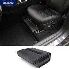 Box Under-Seat-Storage-Box Interior-Accessories Leather Organizer Tesla-Model Folding