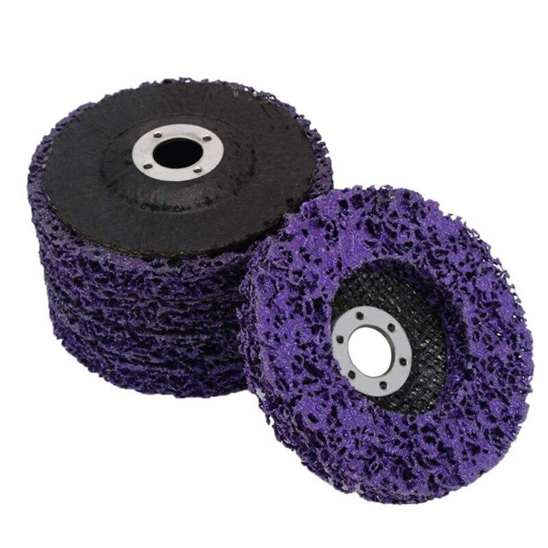 Promoção! 5 pçs abrasivo roda moedor tira disco 125 mm poli tira disco roda pintura remoção de ferrugem limpo para ângulo moedor remova