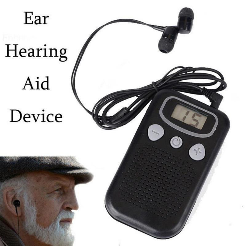 Hearing Aid In ear Personal Sound Amplifier Digital Display For The Elderly Megaphone Easy Operate High
