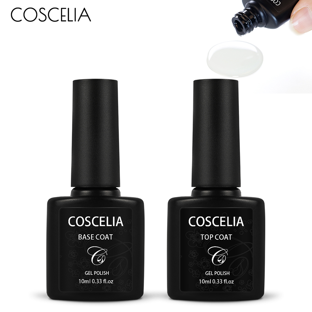 Non-Cleansing Top&Base Coat Matte Topcoat Nail Art Tips 10ml Soak Off Base Coat Foundation Without Sticky Layer No Wipe Top Coat