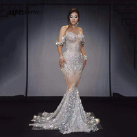 High Quality Celebrity Shining Beading Dress Women's Birthday Prom Celebrate Evening Outfit Bar DJ Club Dancer Party Costume