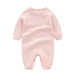 Image 3 - Baby Knitted rompers Pure Cotton Babies Clothing Newborn Baby Girls Knitting Wool long sleeves autumn jumpsuit Knitwear 0 24m