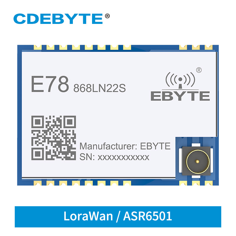 E78-868LN22S LoRaWAN Module ASR6501 868MHz 915MHz SoC LoRa Transceiver 22dBm Stamp Hole IPEX Wireless RF Radio Module
