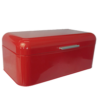 Holder Large Capacity European Style Metal Bread Bin Square Shape Gift Storage Box Practical Tin Container Saves Space Holiday
