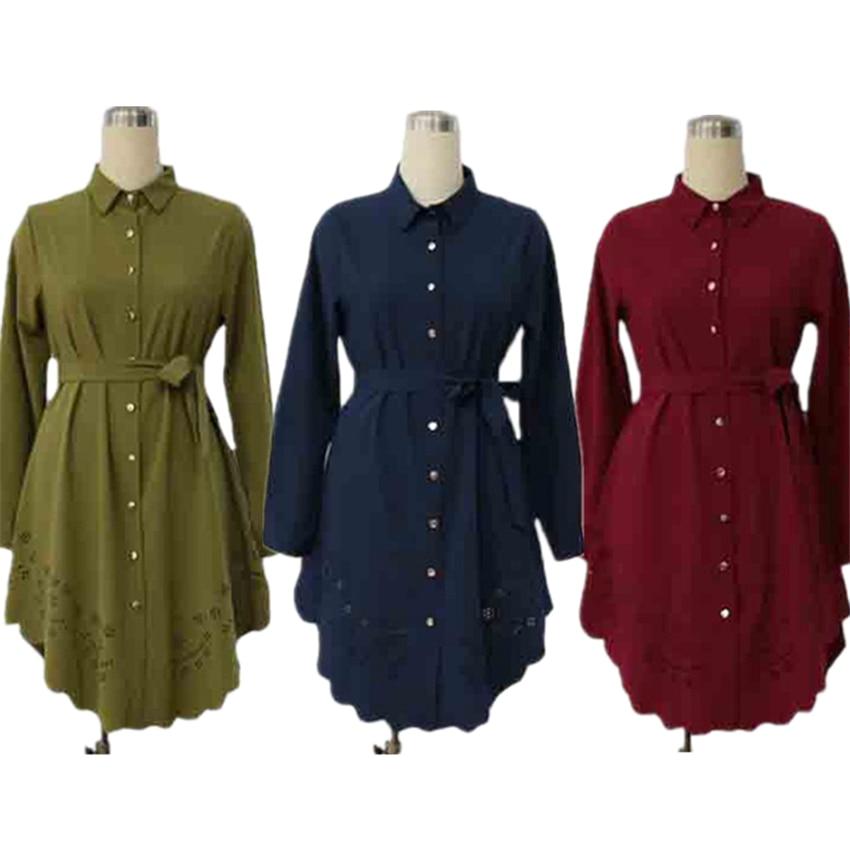 Long Sleeve Abayas For Women Muslim Dress Islamic Clothing Saudi Arabia Dubai Fashion Solid Kaftans Ladies Dresses M-6XL