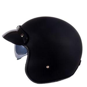 Image 1 - Hot Sale Wanli Brand Casque Moto Capacete Motorcycle Helmet Vintage Helmet High Quality 3/4 Open Face Scooter Helmets Dot