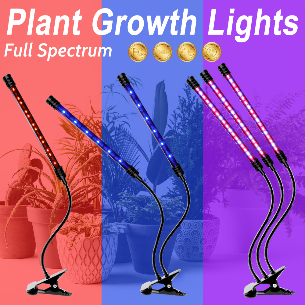 LED Grow Light Waterproof Full Spectrum LED Plant Lamp USB Hydroponic LED Growing Lights For Indoor Seedlings Flower 9W 18W 27W