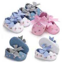 Весенние новые стильные туфли с вышивкой для принцесс маленьких