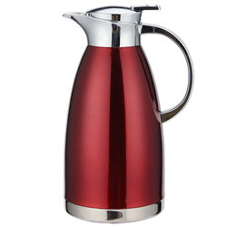 2.3L Large Capacity Double Wall 304 Stainless Steel Hot Water in sulation Pot Kettle Red