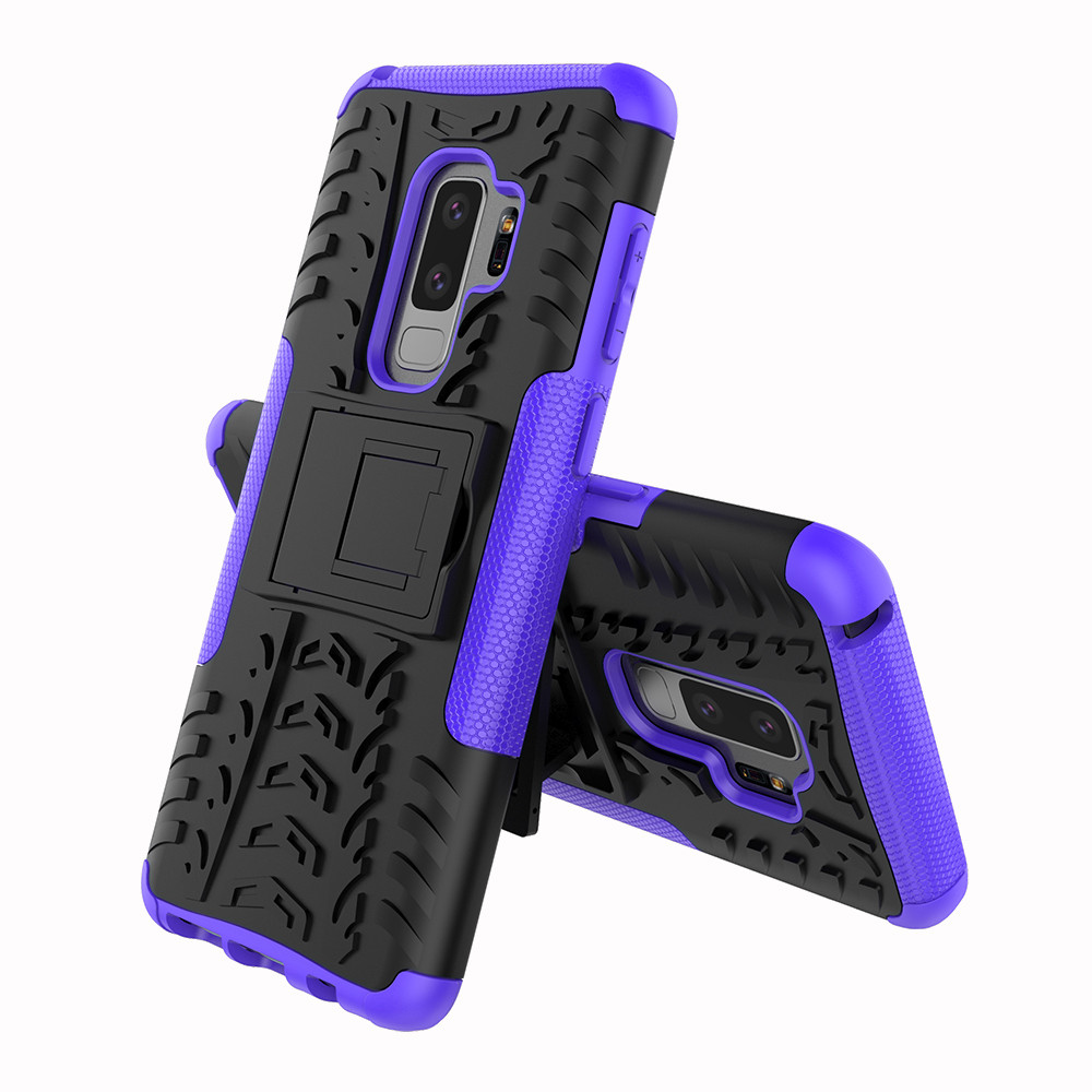 Mobile Phone Case Shockproofheavy Duty Stand Case Silicone  Skin Cover For Samsung Galaxy S9 Plus 6.2Inch Protector 20FEB10
